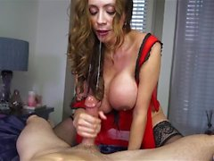Insatiable MILF inhales hard cock