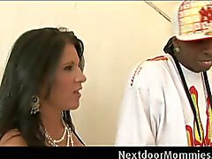 Cougar takes a big black cock ride
