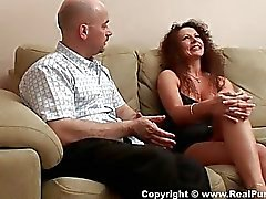 Charming mature babe gets guy ready for fuck