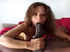 Interracial for a brunette milf