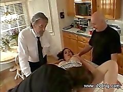 Perverted Husband Makes His Wife Isabel Spread Her Feet On The Kitchen Table And Takes Neighbours Dick Inside Her Cunt