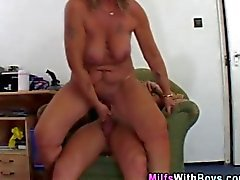 Milf gets anal fucked and she sucks a dick