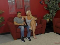 Blonde Bombshell Alura Jenson Uses Her Personal Assistant As Her Slave