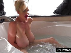 Blonde Kelly Madison masturbating