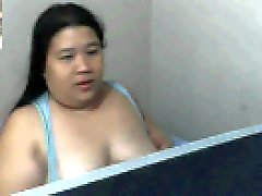 chubby filipina mom rowena sotito shows sucks her tits