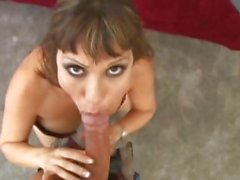 Smoking hot Ava Devine sucks on this hard fuck stick
