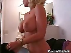 Busty big boobed MILF babe gets her part3
