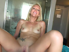 Laura Bentley Reverse Cowgirl Style And Cumshot
