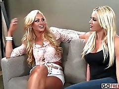 This hot blonde rides a cock