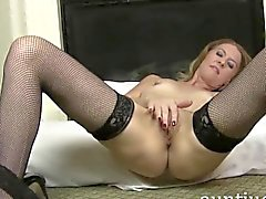 Long-legged Mature Beauty Lacy is Feeling Frisky