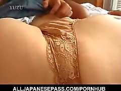 Tomomi Kobayashi is hungry for a hard penis