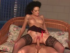 Hot Slut With Curly Hair Riding Dick