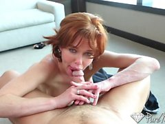 PureMature Horny redhead just wants to fuck