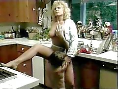 Vintage Furry Blonde Brit Stevie Fucked In Kitchen