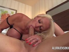Busty Tits MILF Alura Jenson has her tight pussy impaled
