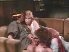 Vintage clip of yummy porn stars of the past doing a threesome