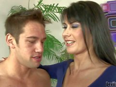 MILF Eva Karera bends over to be fucked after bj