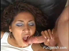 Slut Gets Double Teamed And Gets A Huge Face Full Of Cum