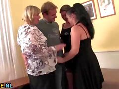 Dirty housewives sharing a guy