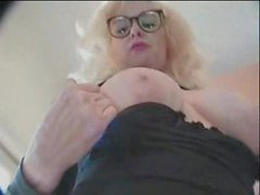 Milf in glasses and two horny guys