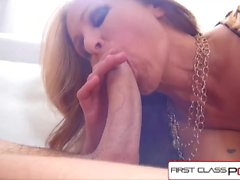 FirstClassPOV - Julia Ann take a monster cock in her throat, big boobs