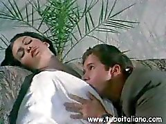 Italian porn with brunette getting pounded and the other getting kissed