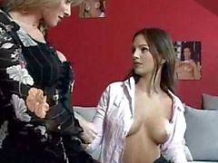 Gorgeous Eve Angel seduces a milf for pussy grinding!