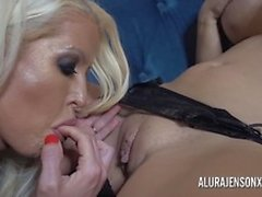 Alura and her busty lesbian friend Dolly get saucy