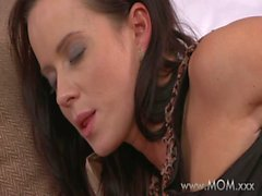 MOM Busty Brunette MILF takes his length