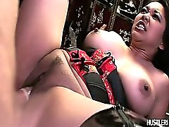 Busty asian Mika Tan get drilled on the billiard table.
