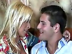 Busty Blonde MILF Loves Sucking Cock