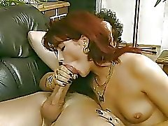 German chick riding a big cock