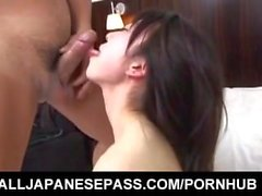 Japanese AV Model gets a lot of cum on face after doggy style