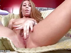 Pussy playing Lexi Leigh with toys