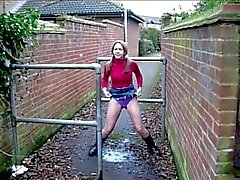 British Milf Pissing in Public