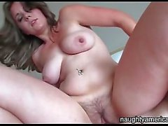 Hairy milf cunt fucked in a sexy POV video